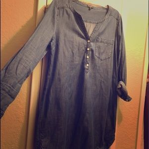 Express denim long sleeve dress